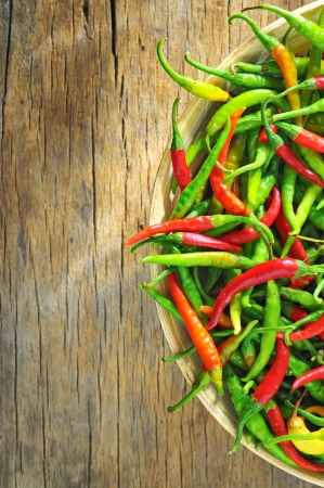 Chili Peppers in bowl Stock Photo - 16478288