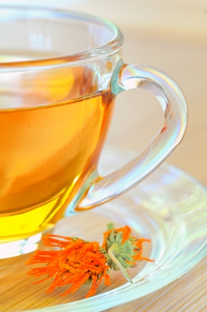 marigold herbal tea Stock Photo - 16475412