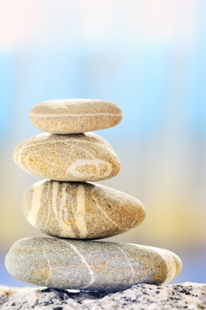 a pile of pebbles isolated Stock Photo - 16477328