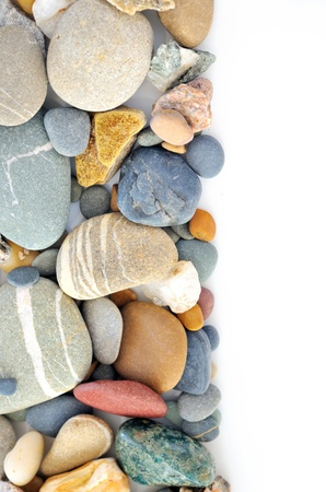 a pile of pebbles isolated Stock Photo - 16475143