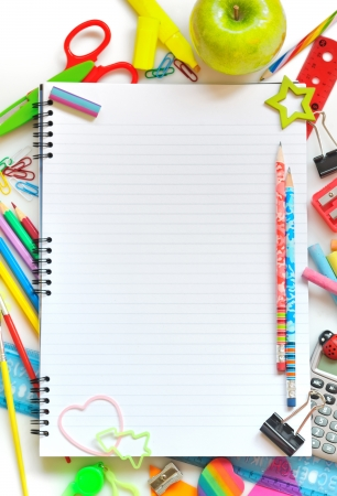 various school supplies Stock Photo - 16454697