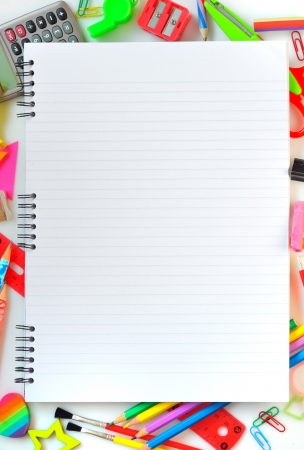 various school supplies Stock Photo - 16474840