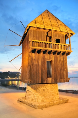 old wooden mill in nessebar bulgaria Stock Photo - 16477813
