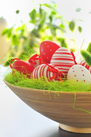 basket with easter eggs Stock Photo - 16476650