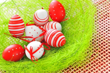 basket with easter eggs Stock Photo - 16480282