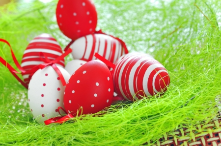 basket with easter eggs Stock Photo - 16478197