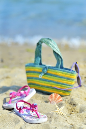 colorful still life: Children s beach accessories