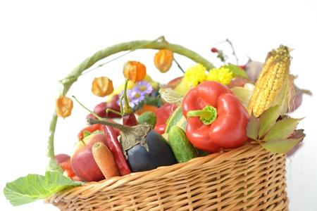 erntekorb: Harvest Basket Lizenzfreie Bilder