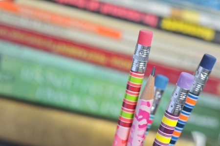 closeup of colored pencils Stock Photo - 16475406