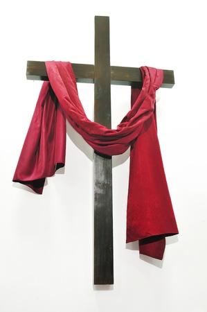 kruis op een witte achtergrond