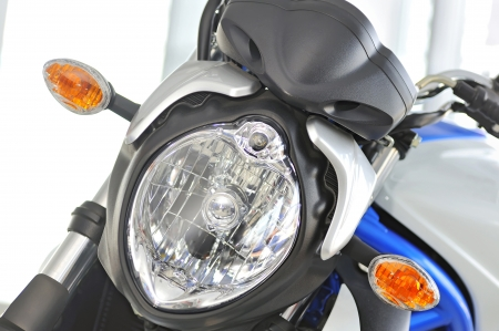 Motorcycle front  headlights photo