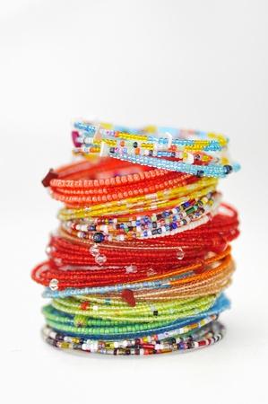 many colorful fashion bracelets Stock Photo - 16478257