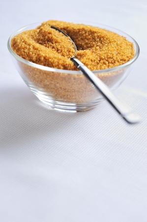 glycemic: a bowl of natural brown sugar