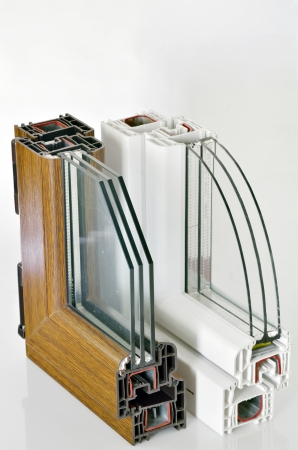 PVC window profile Stock Photo