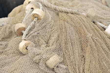 fishing industries: Fishing nets closeup