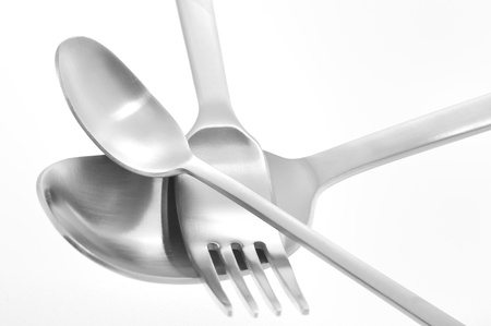 Fork and spoon isolated Stock Photo - 16473732