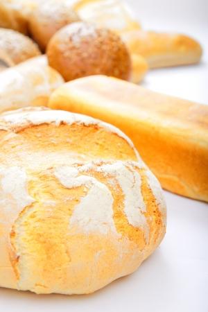freshly: Assorted bread Stock Photo