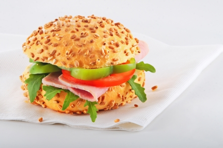 Close up of a healthy sandwich  Stock Photo - 16483200
