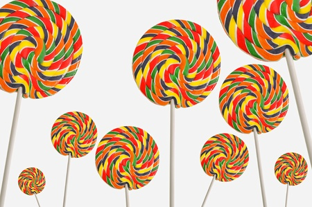 Set of colorful lollipops Stock Photo - 16482363
