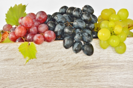 types of grapes on wood Stock Photo - 16482530