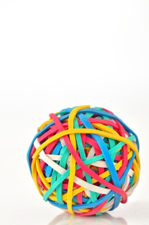 multi coloured: Rubber Band Ball Stock Photo