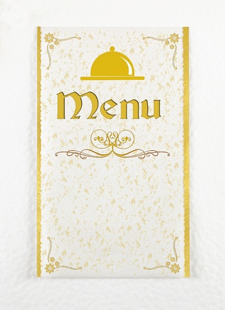 Menu of restaurant
