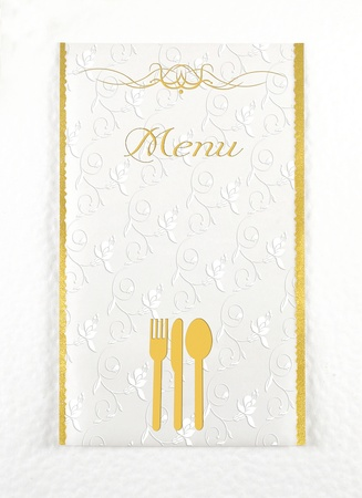 Menu of restaurant Stock Photo - 16483232
