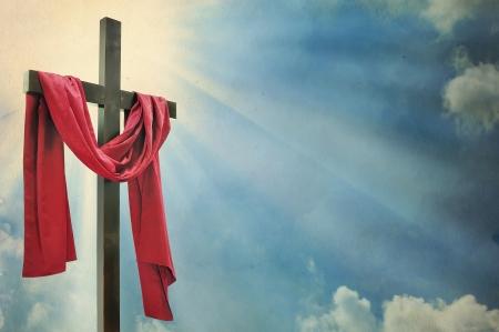 cristianismo: Cruz en el fondo blanco