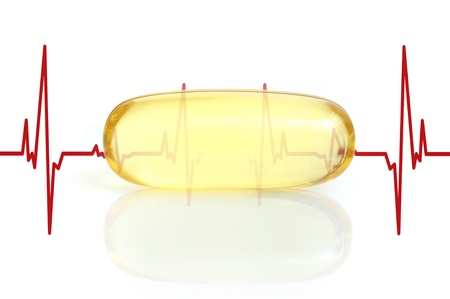 primrose oil: yellow fish oil capsule and electrocardiogram