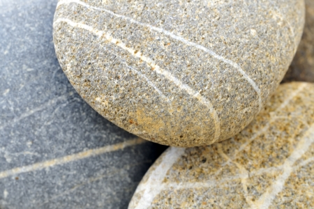 Pebble Beach: background with round peeble stones