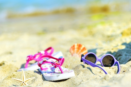 Children's beach accessories Stock Photo - 16482126