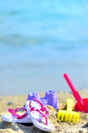 Children's beach accessories Stock Photo - 16481361