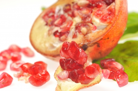 Pomegranate on white background Stock Photo - 16481056