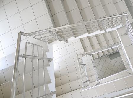 handrail: stairs Stock Photo