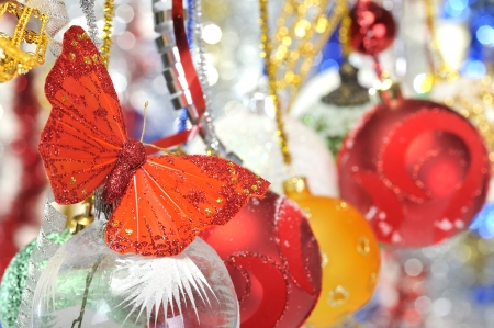 butterfly christmas decorations Stock Photo - 16482154