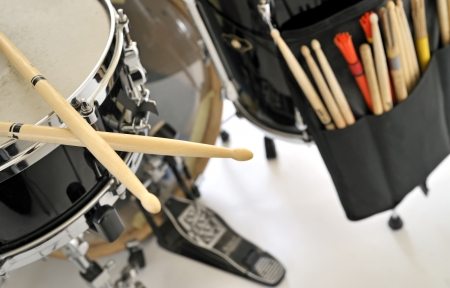 close up drum with drumsticks  Stock Photo - 16481243