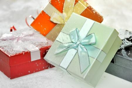 box in snow Stock Photo - 16481271