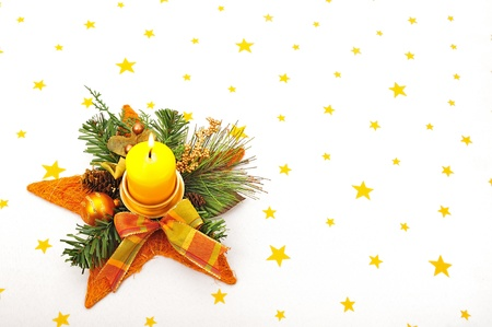 christmas candle Stock Photo - 16481497