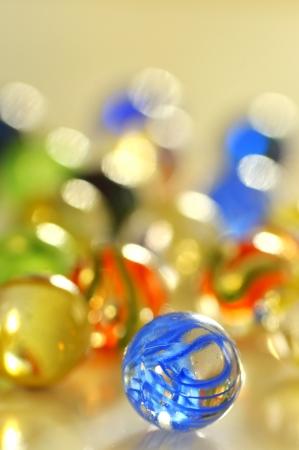 round glasses: glass balls