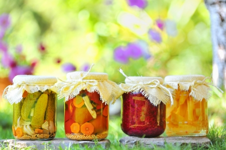 fibber: autumn preserves Stock Photo