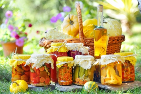 food preservation: autumn preserves Stock Photo