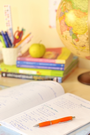 School supplies and desk Stock Photo - 20777766