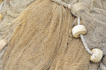 fishing net with floats Stock Photo - 16479741