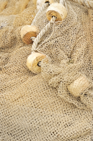 fishing net with floats Stock Photo - 16480860