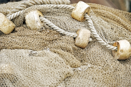fishing net with floats Stock Photo - 16480879