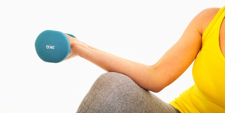 woman lifting weights Stock Photo - 16482853
