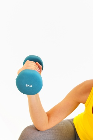woman lifting weights Stock Photo - 16483316