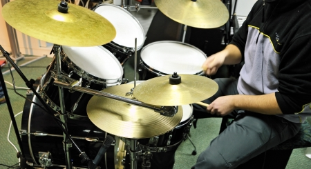 playing drums photo