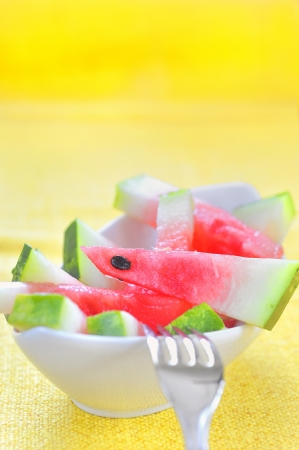 fresh sliced watermelon served Stock Photo - 16481337