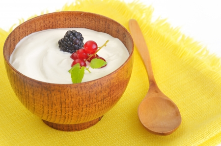 Yogurt with fruits Stock Photo - 16482156